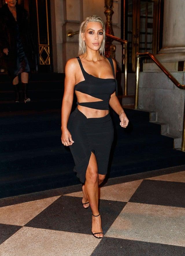 Kim kardashian sexy dresses