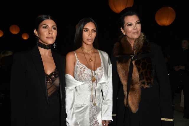 Kourtney and Kim Kardashian with Kris Jenner