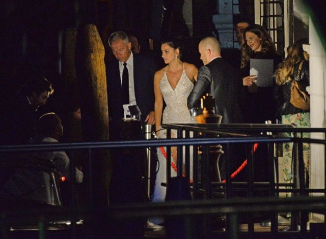Penelope Cruz and Javier Bardem arriving at Palazzina in Venice