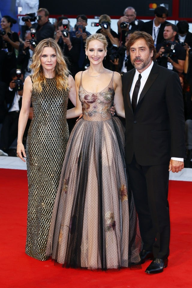 Michelle Pfeiffer, Jennifer Lawrence and Javier Bardem