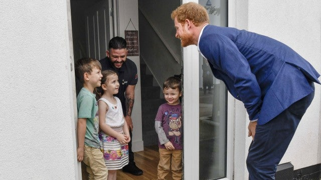 Prince Harry visiting Manchester