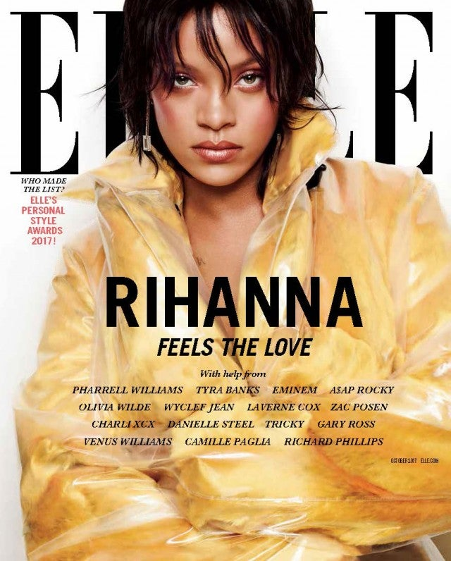 Rihanna on the cover of Elle October