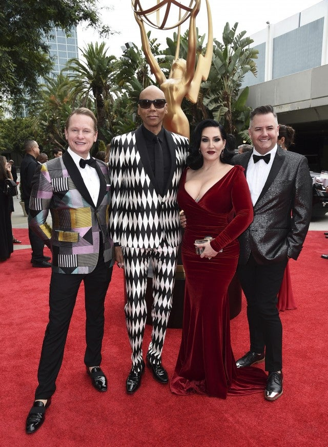 Carson Kressley, RuPaul, Michelle Visage and Ross Mathews at 2017 emmys