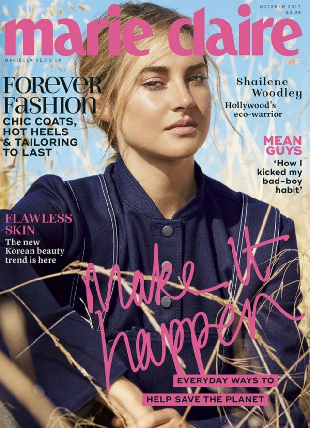 Shailene Woodley in Marie Claire UK