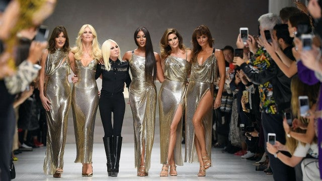 Donatella Versace with Supermodels