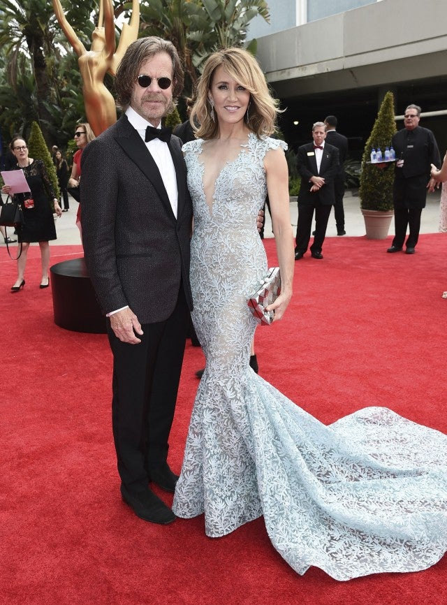 William H. Macy and Felicity Huffman at 2017 Emmys