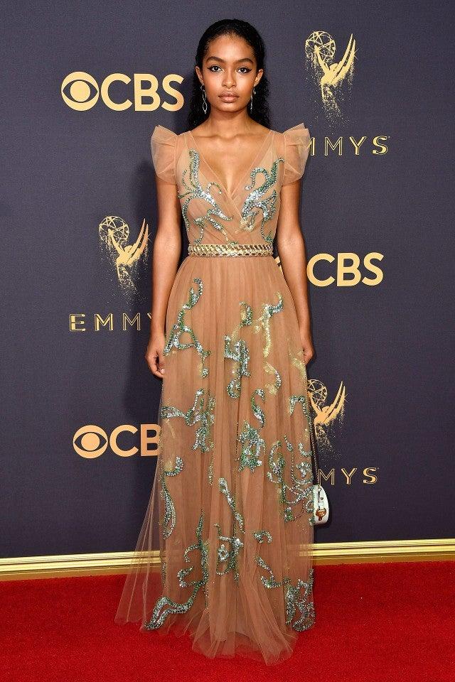 Yara Shahidi at 2017 Emmys