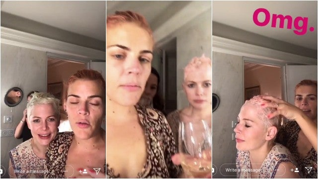 Busy Phillips Michelle Williams snapchat
