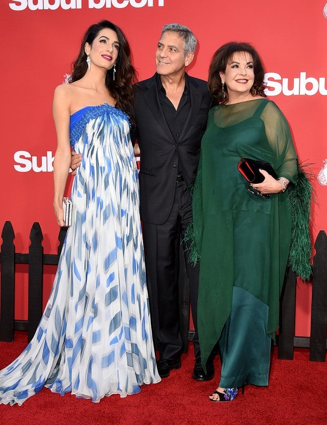 George Clooney and Amal Clooney with Baria Alamuddin