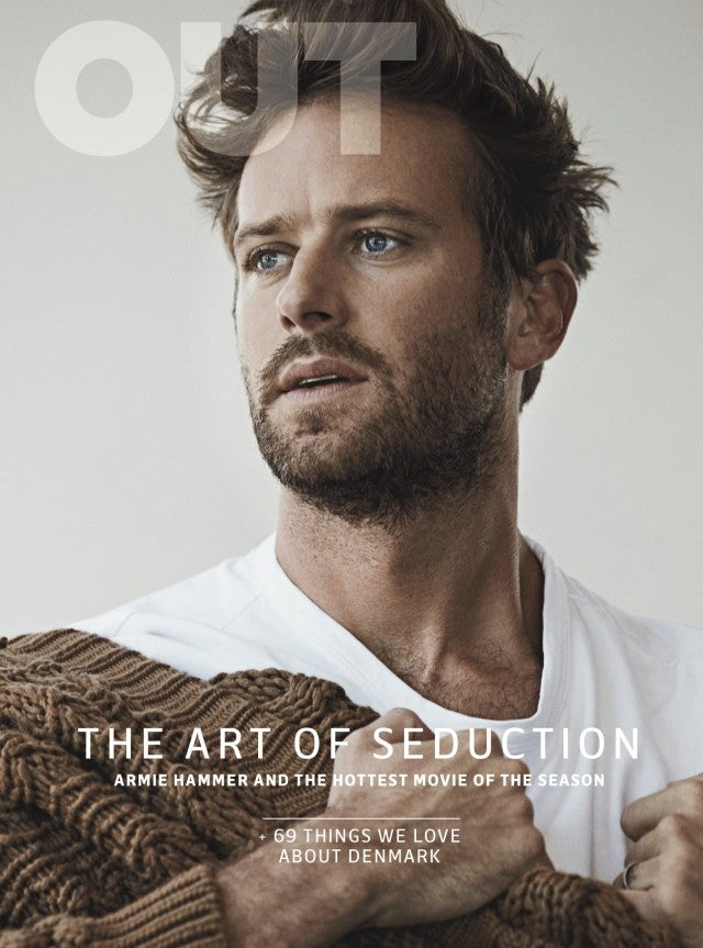 Armie Hammer on Cover of Out Magazine