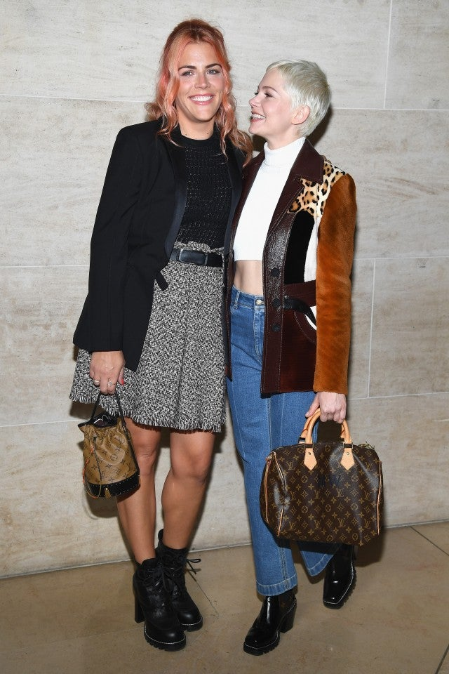 Busy Philipps and Michelle Williams Jennifer at Louis Vuitton Paris Fashion Show