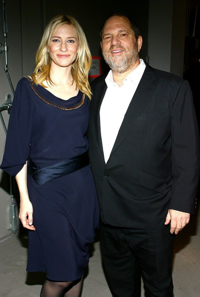 Cate Blanchett and Harvey Weinstein