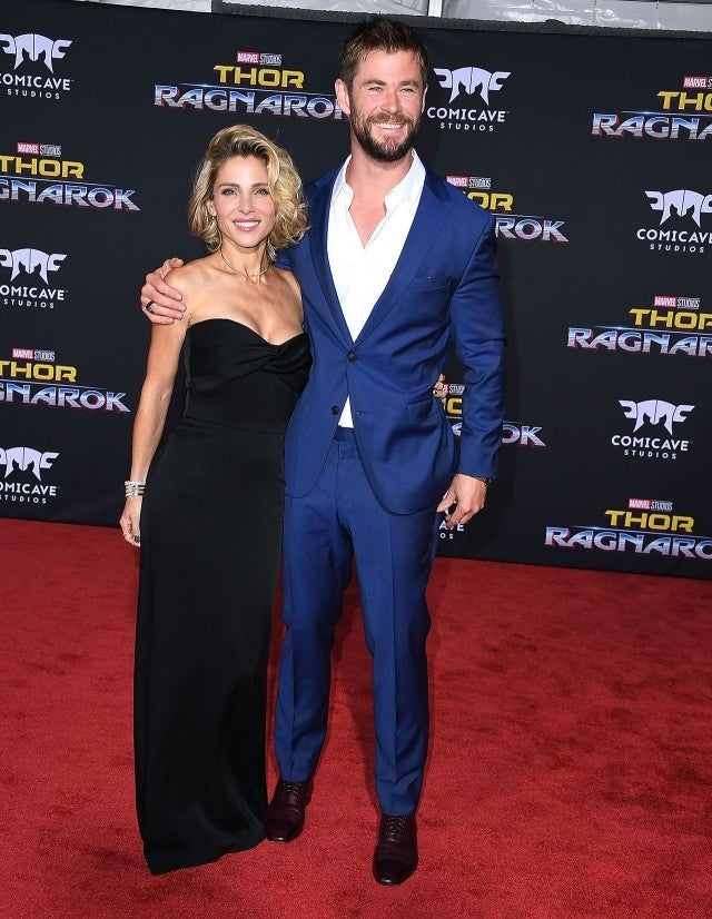 Chris Hemsworth and Elsa Pataky at 'Thor' premiere