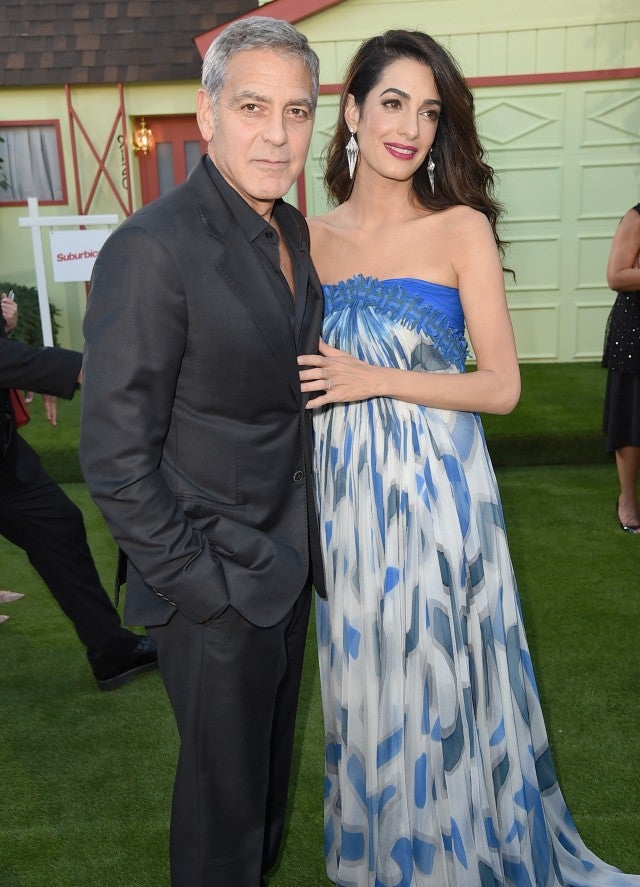 George and Amal Clooney at Suburbicon Premiere 10/22/17