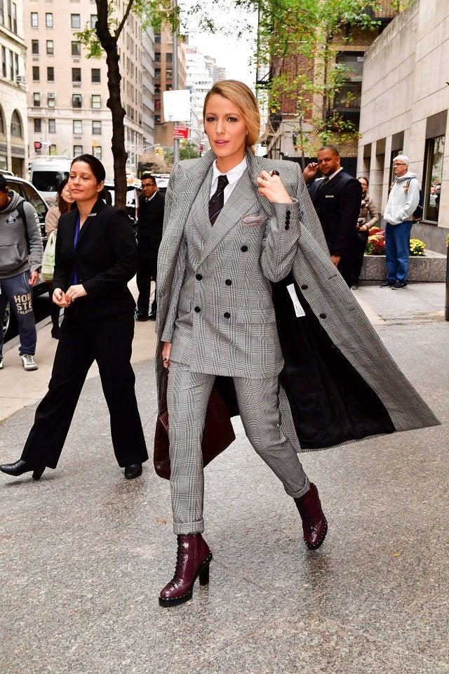 Blake Lively in NYC - suit