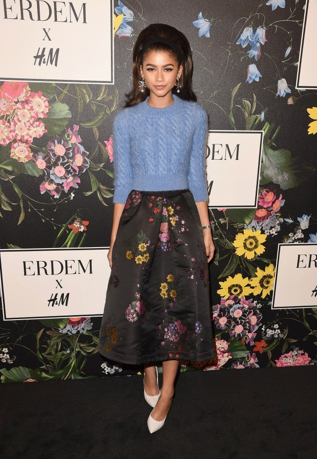 Zendaya at H&M x Erdem event