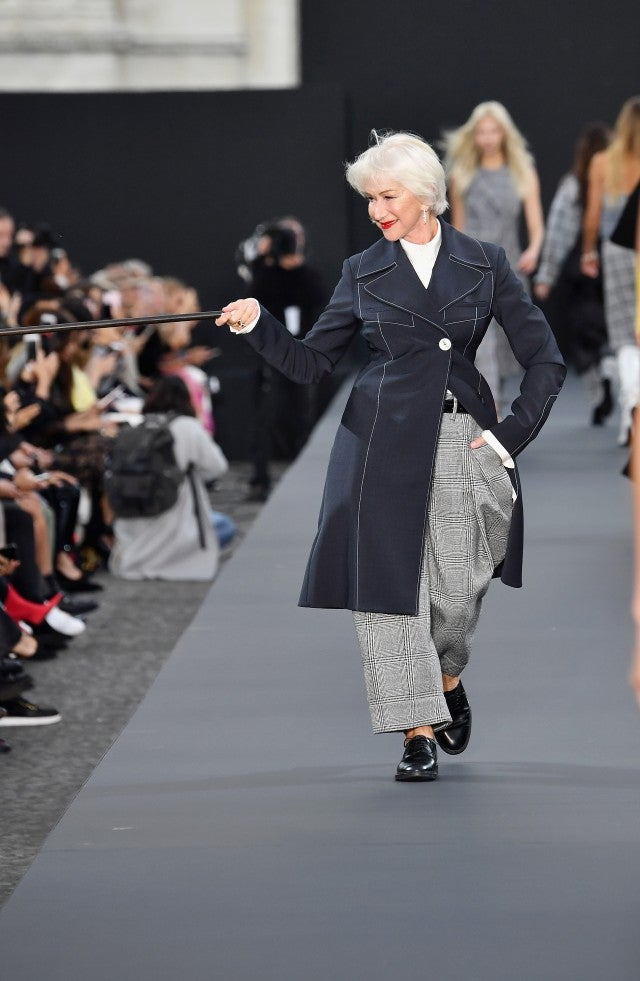 Helen Mirren at Paris Fashion Week Show 2017
