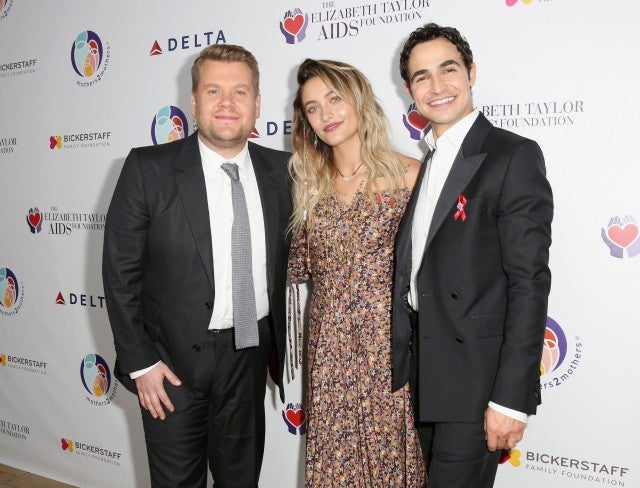 James Corden Paris Jackson and Zac POsen at Benefit in LA