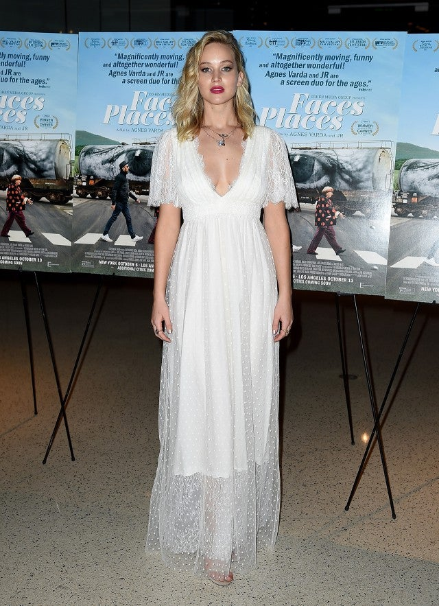 Jennifer Lawrence Wears a Bridal Gown on the Same Red Carpet as ...