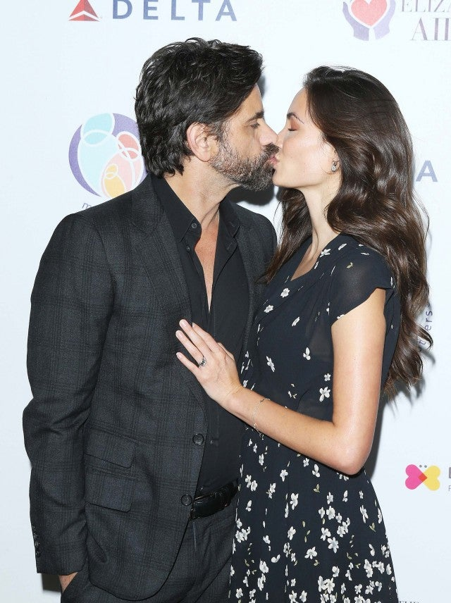 John Stamos and Caitlin McHugh at the mothers2mothers and The Elizabeth Taylor AIDS Foundation Benefit Dinner
