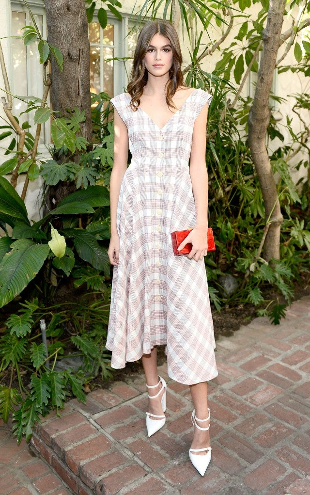 Kaia Gerber attends CFDA/Vogue Fashion Fund Show and Tea
