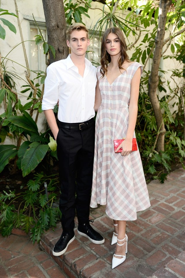 Kaia and Presley Gerber at Vogue CFDA event in LA