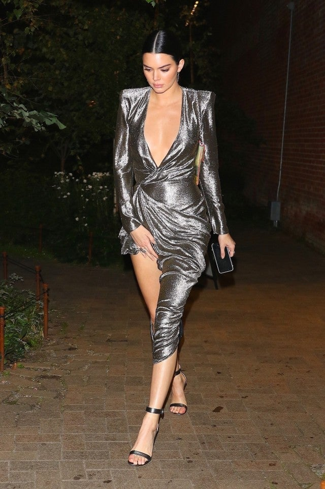 Kendall Jenner slays in silver