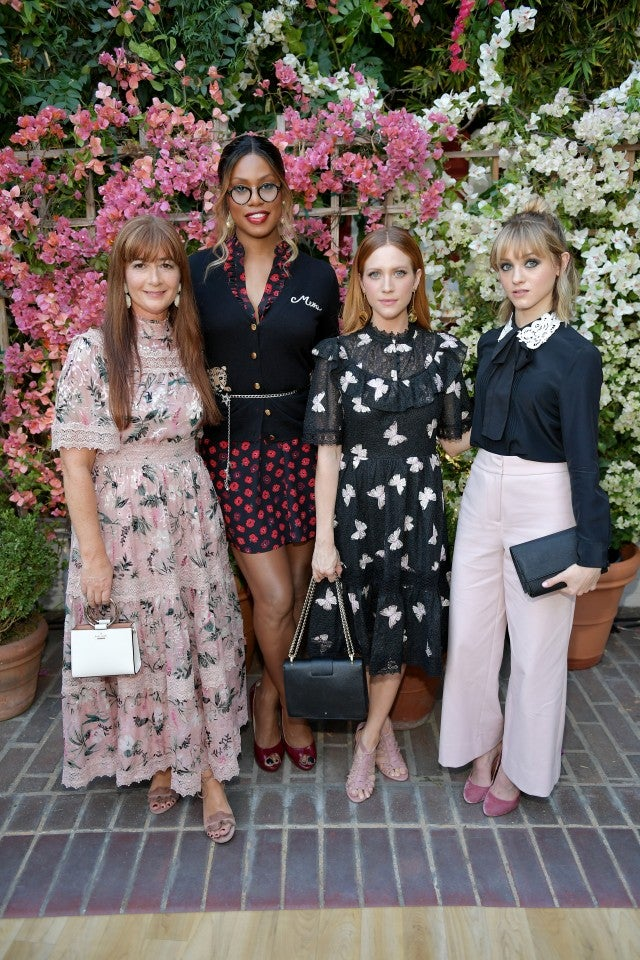 Laverne Cox, Brittany Snow at CFDA Vogue Fashion Fund