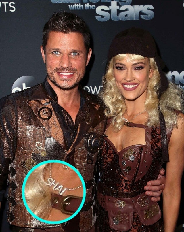 Nick Lachey and Peta Murgatroyd on DWTS, with Shai Necklace Inset