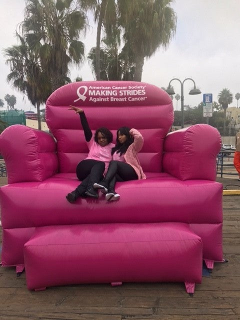 Normani Kordei and her mom at breast cancer walk
