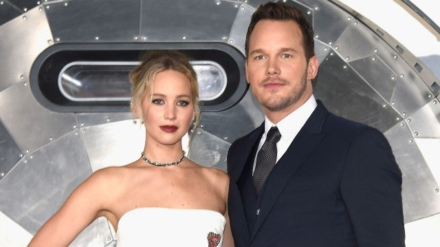 Chris Pratt and Jennifer Lawrence
