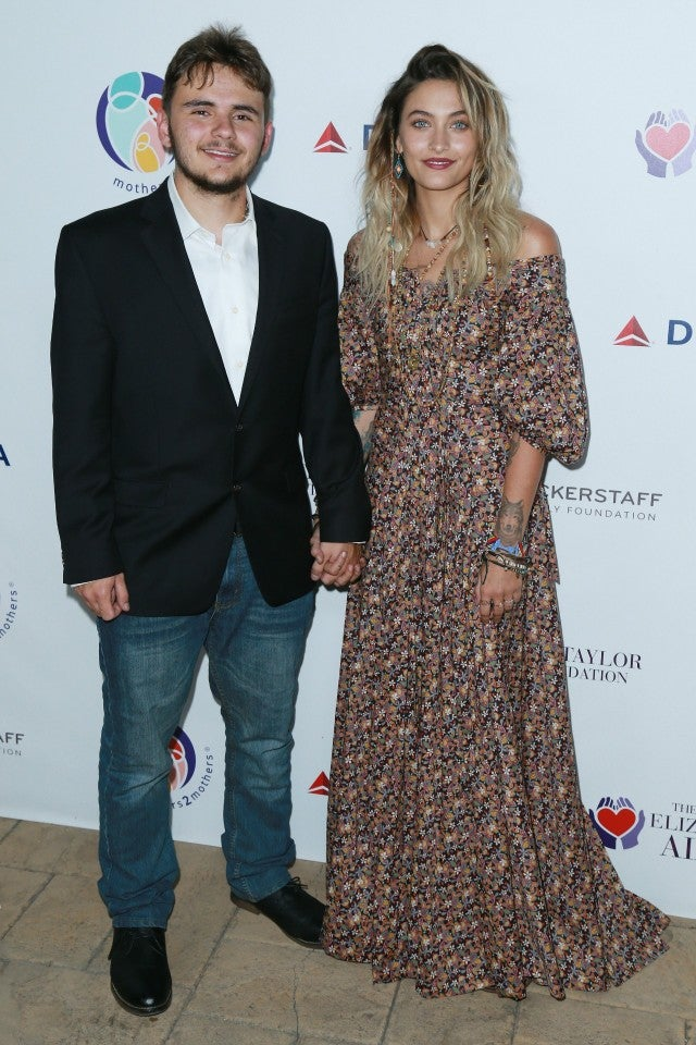 Prince and Paris Jackson at Benefit in LA