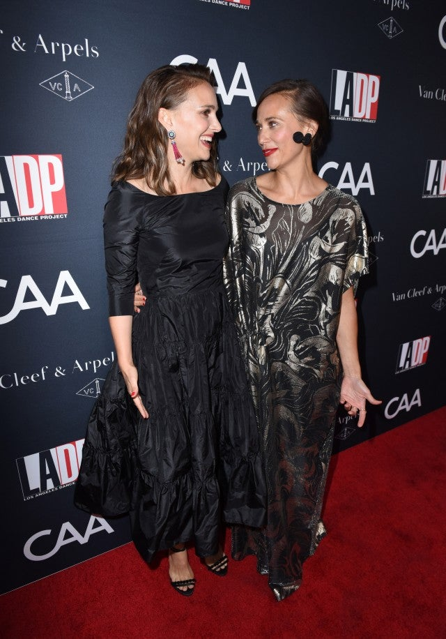 Rashida Jones and Natalie Portman at the Los Angeles Dance Project's annual gala