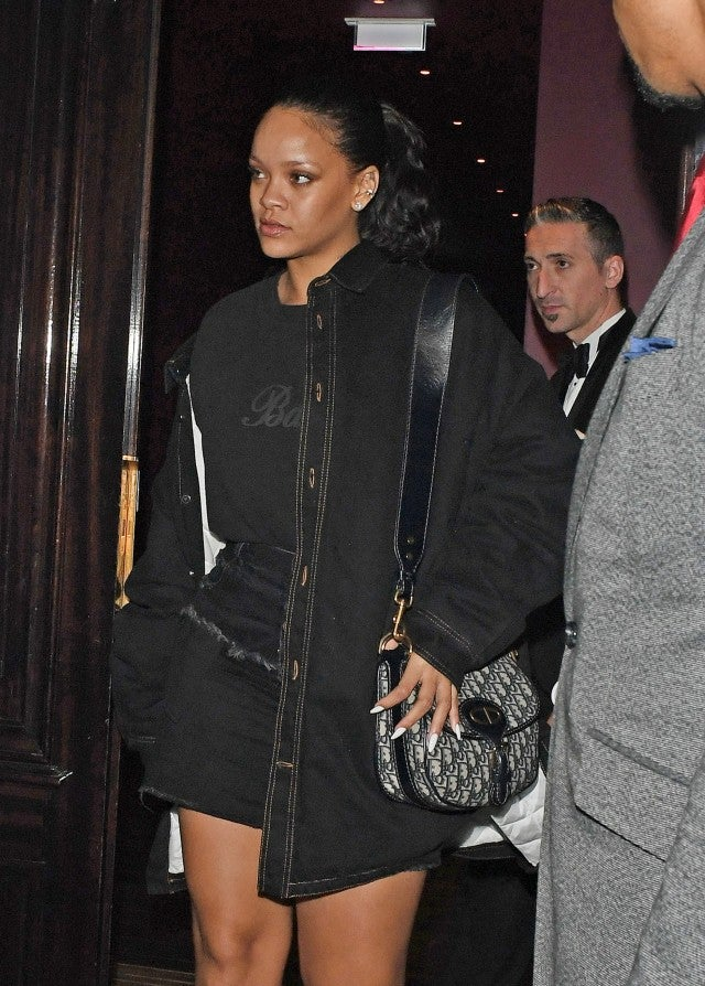 Rihanna in London leaving restaurant after date night with Hassan Jameel