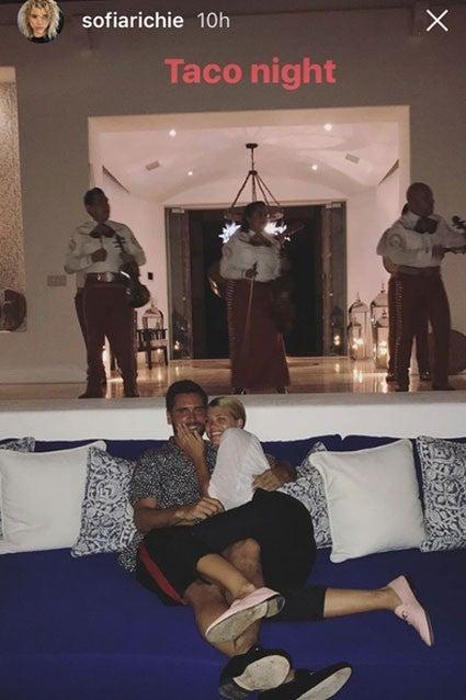 Sofia Richie and Scott Disick in Mexico