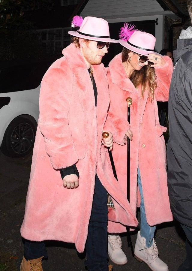 Ed Sheeran & Girlfriend Cherry Seaborn Wear Matching