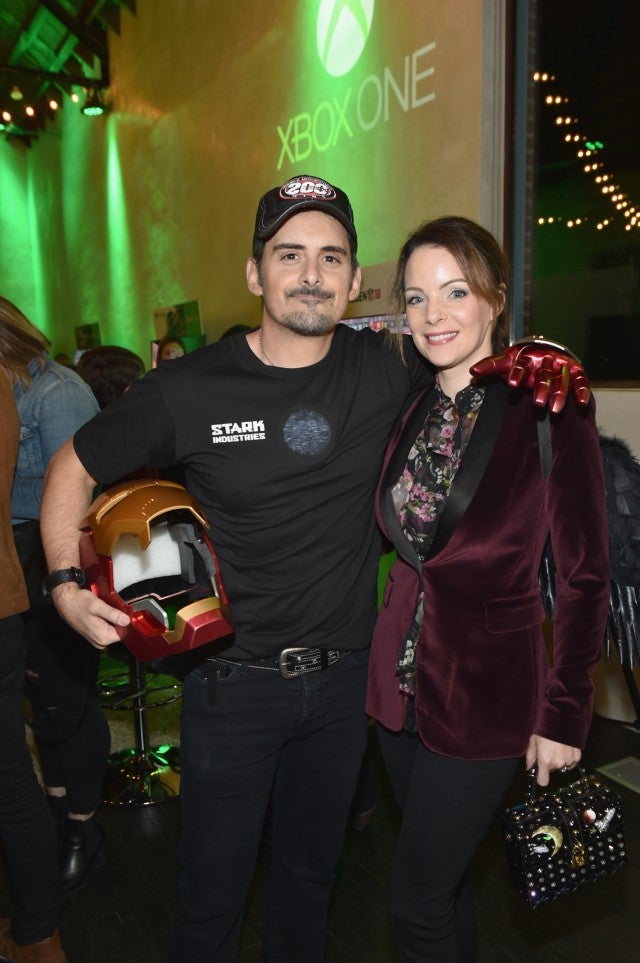 Brad Paisley and wife - xbox party