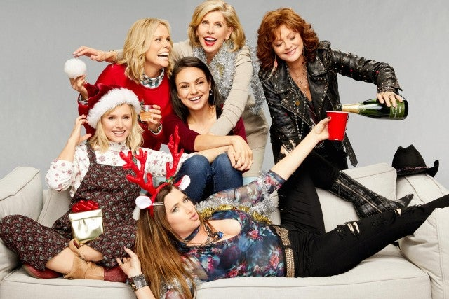 A Bad Moms Christmas Cast Photo