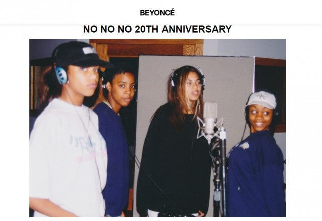 Destiny's Child in the recording studio for No No No