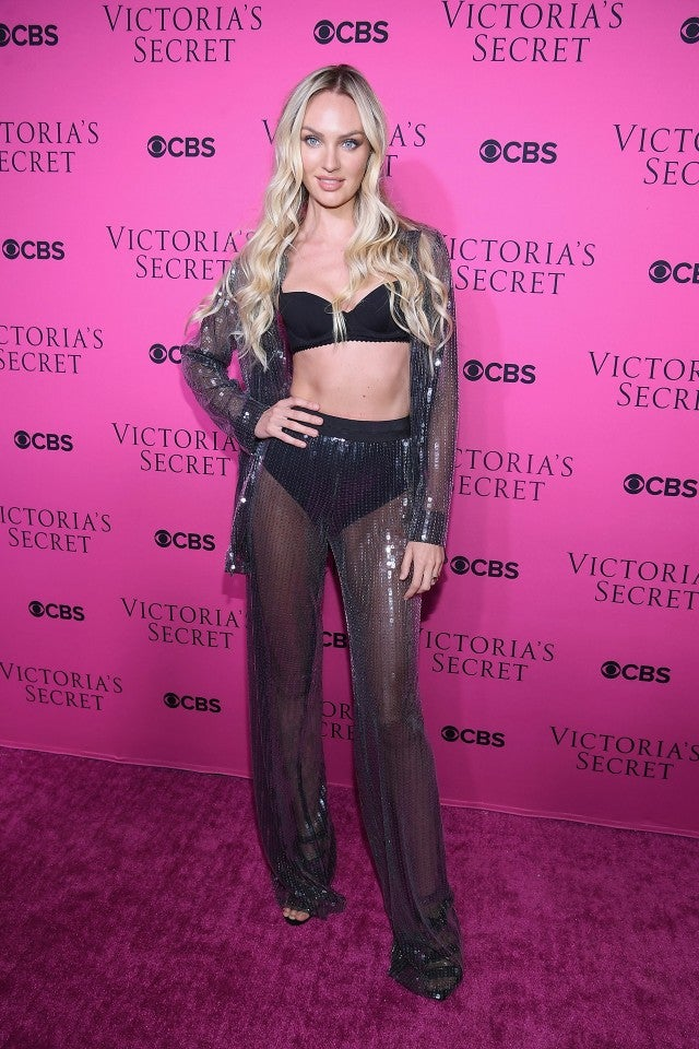 Candice Swanopoel at viewing party