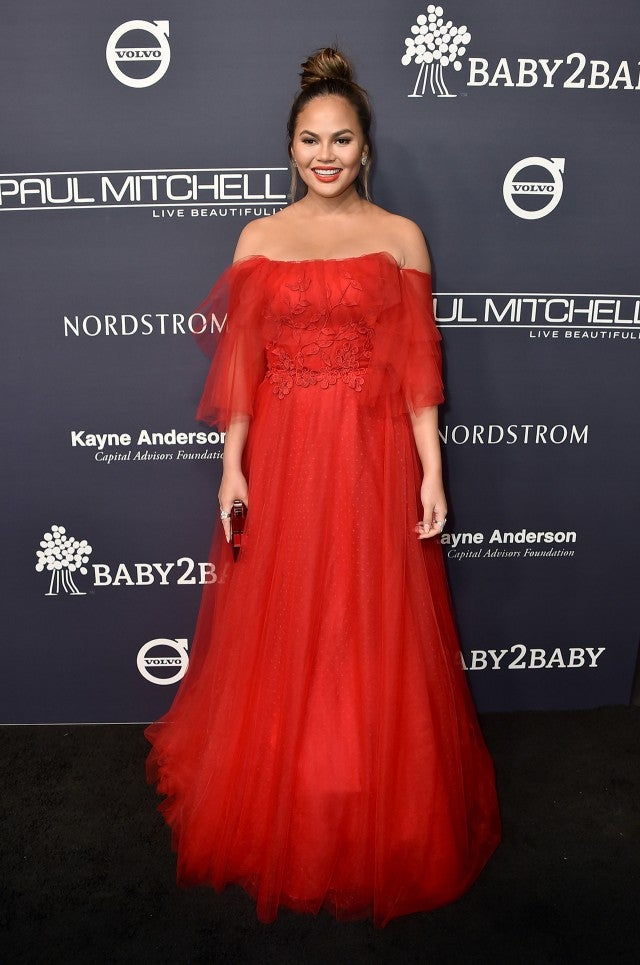 Chrissy Teigen at Baby2Baby