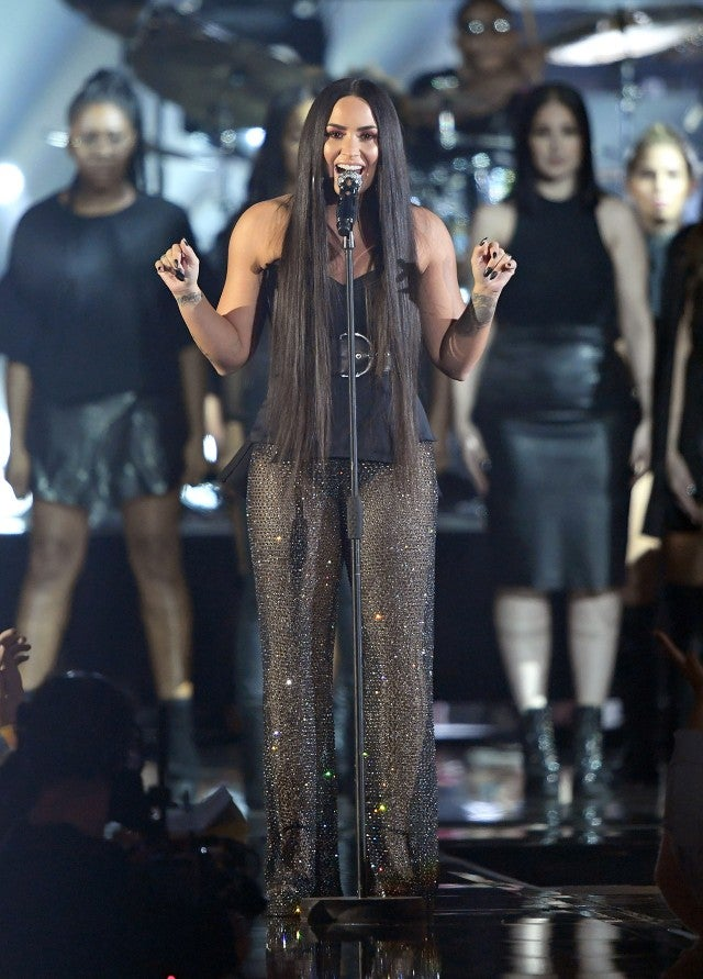 Demi Lovato performs at MTV EMAs
