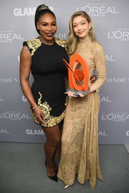 Gigi Hadid and Serena Williams