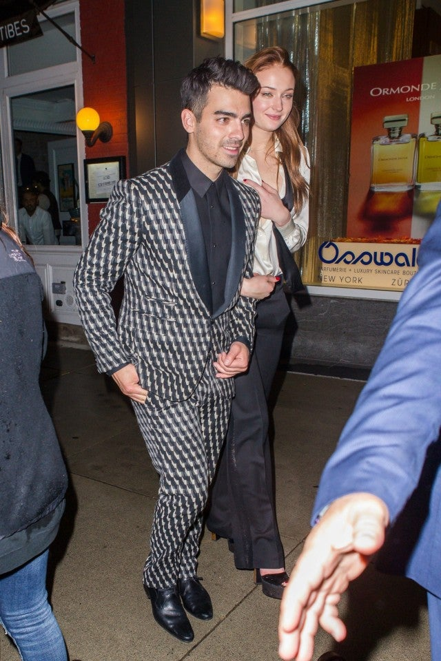 Joe Jonas and Sophie Turner at their engagement party 11/05/17