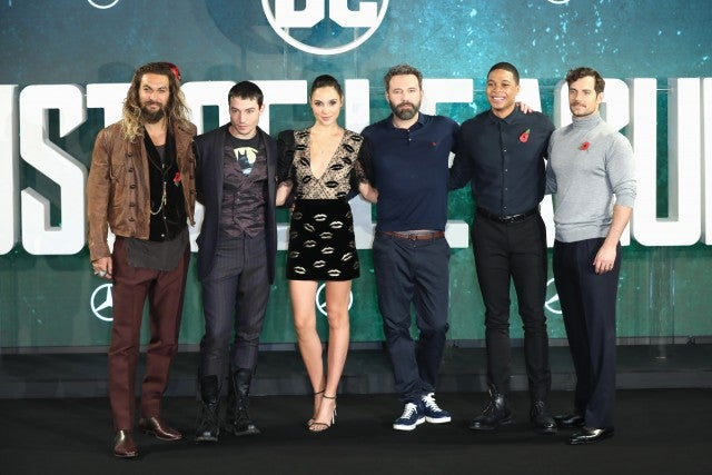 Justice League cast at photocall in London
