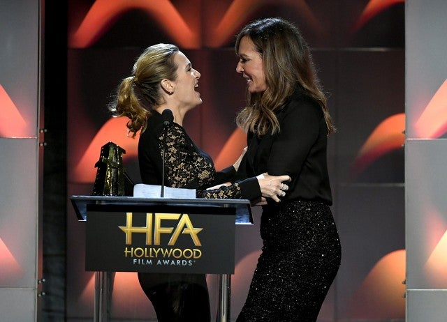 Kate Winslet and Allison Janney at the Hollywood Film Awards