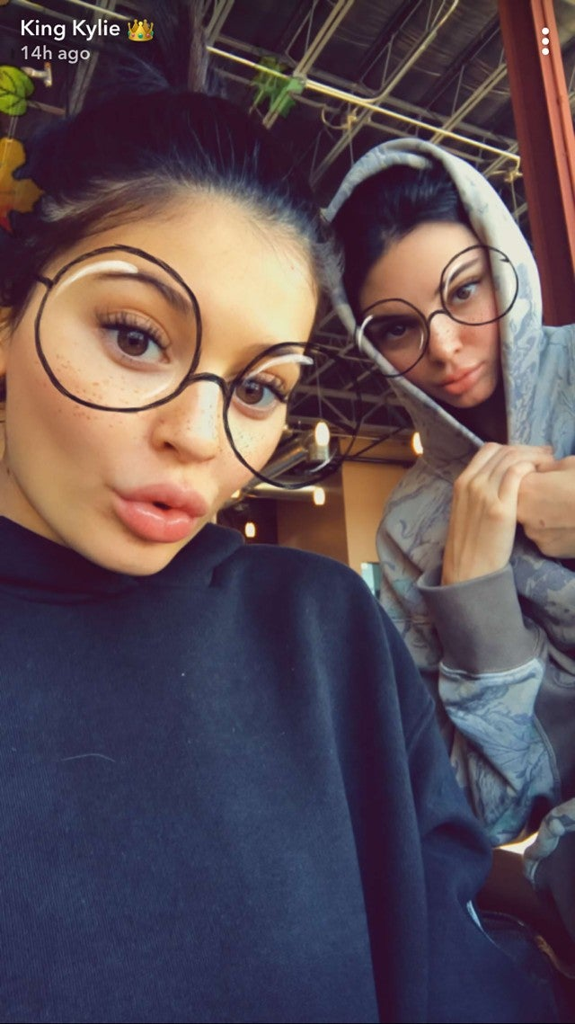Kylie and Kendall Jenner pose