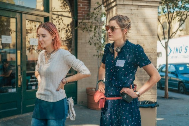 Saoirse Ronan, Greta Gerwig in 'Lady Bird'