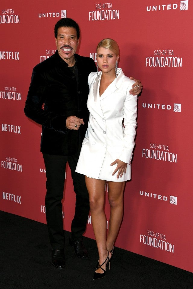 Lionel Richie and Sofia at SAG Patrons Awards