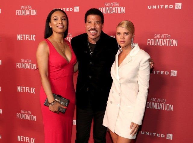 Lionel Richie, Sofia Richie and Lisa Parigi at SAG Patron Awards